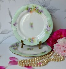 set 2 PLATES ROYAL ALBERT c1920's signed VanDermade, Regina English Bone china