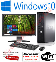 FULL DELL/HP DUAL CORE/AMD DESKTOP TOWER PC&TFT COMPUTER , WIN 7/ 10 16GB 3TB