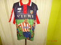 Atletico Madrid Original Puma Spieler Fan Trikot 1998/99 + Nr.9 Vieri Gr.XL Neu