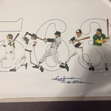 REGGIE JACKSON Hand Painted and signed(facsimile) by Reggie Jackson