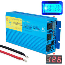 LUYUANIPOWER Pure Sine Wave Power Inverter 1000W/2000W DC 12V to AC 240V Camping