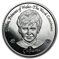 2002 Isle of Man Cupro-Nickel 1 Crown Princess Diana - SKU #97402