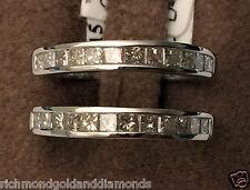 1ct Princess Cut Diamonds Ring Guard Wrap White Gold Solitaire Enhancer 1 Carat