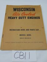 VINTAGE WISCONSIN AIR COOLED ENGINES INSTRUCTION & PARTS BOOK AENL MM-283-A