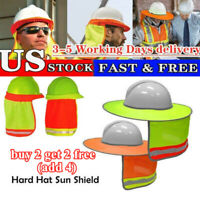 Gear Prevent Bask Helmet Sun Shade Reflective Stripe Cover Hard Hat Neck Shield