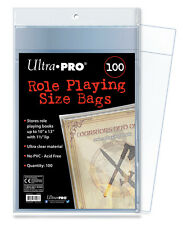 """(100) Ultra Pro Role Playing Size Book Bags Stores Comics, Digests 10"""" x 13"""""""