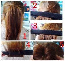 1PCS Black Fashion Girls Hair Bun Updo Fold, Wrap & Snap Styling Tool