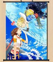 Final Fantasy 13 XIII-2 Tidus Yuna Anime Home Decor Wall poster Scroll 60*90CM