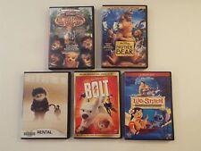 5 DVD-lot-Bolt-Lilo & Stitch-Where Wild Things Are-Country Bears-Brother Bear***