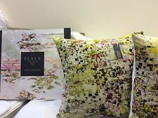 "pkt 2 jessica zoob breathe velvet cushions 18"" x 18"" romo black edition"