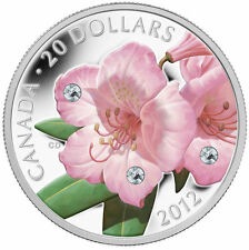 2012 Canada $20 Fine Silver Coin - Rhododendron