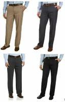 NWT Mens Izod Dress Pant Performance Stretch Stretch Straight Flat Front no iron