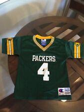 Green Bay Packers Brett Favre Teen Champion Jersey Toddler 3T Excellent Cond