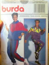 BURDA SEWING PATTERN NO. 4202  UNISEX TRACK SUIT  SIZES 34-48 44-58 INCHES