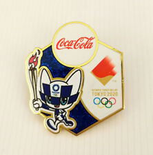 Brand new Tokyo 2020 olympic pin Coca Cola mascot Torch relay