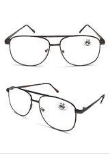 L488 Classic Double Bridge Metal Reading Glasses Oversize Lens Designed/5 Colour
