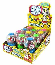 MINI JELLY BEAN MACHINES WITH ASSORTED FRUIT FLAVOUR GUM BALLS 12