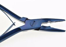 "Hair Extension Plier Removal & Fitting Pliers 5"" Stainless Steel Tools Blue"