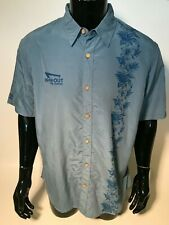 IN-N-OUT Burger Mens XL Blue Hawaiian Short Sleeve Aloha Shirt Modal Blend