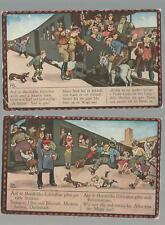 2  Postcards Hans Boettcher: Auf de Schwäbische Eisenbahne