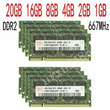 20GO 16GO 8GB 4GB 2GB 1GO PC2-5300 DDR2-667 CL5 SODIMM notebook RAM par Hynix FR