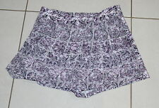 Womens size 14 purple & white skorts (skirt over shorts) made by GLASSONS