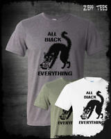 All Black Everything T-Shirt Black Cat Coffee Unlucky 13 Occult Goth Funny Witch