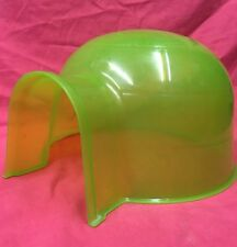 Guinea Pig House Igloo Green Plastic 12x10 Inch Rats Chinchilla Degus  SM RABBIT