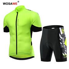 Set da ciclismo uomo Maglia a maniche corte Comfort Pantaloncini imbottiti verde