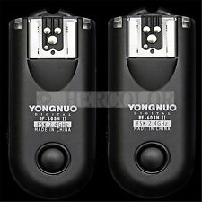 2X Yongnuo RF-603II Wireless Flash Trigger N1 for Nikon D1H D2X D3 D3X D300 D800