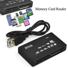 USB 2.0 All in One Multi Memory Card Reader MS M2 CF XD Micro SD HC SDXC 6 Slots