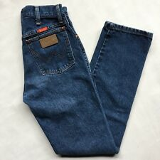 Vintage Wrangler High Waisted Straight Leg Dark Denim Jeans Mom Jeans Size 5x32