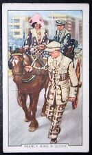COCKNEY PEARLY KING   Epsom Derby   Original 1930's  Vintage Card