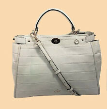 COACH GRAMERCY Chalk Croc Embossed Leather Satchel Bag Msrp $695.00