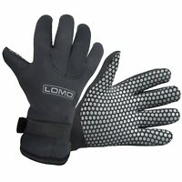 Lomo 5mm Neoprene Gloves Black - Diving, Watersports, Jet Skiing, Snorkelling