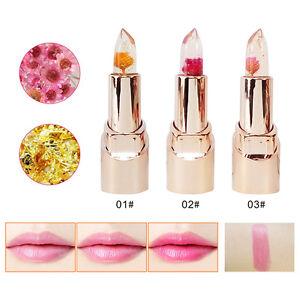 Jelly Flower Color Changing Long Lasting Lipstick Moisturizing Lip Gloss w