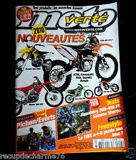 MAGAZINE MOTO VERTE 2010 NOUVEAUTES HUSABERG  FMX KTM  KAWASAKI HONDA SUZUKI