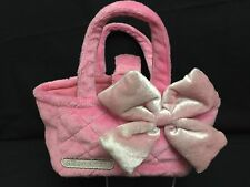 "Hello Kitty PINK PURSE CARRIER 6"" X 3.5"" X 3.5"" Plush FABRIC Free Shipping"