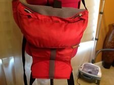 Combi Baby Carrier Red Gray Over Shoulder/Waist Removable Protector Cover Adjust