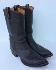 Tony Lama Texas USA Vintage Men's Brown Leather Western Cowboy Boots Sz 9.5/10