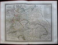 Germany Allemagne Bohemia Austrian Empire Prussia c.1850 Andriveau-Goujon map