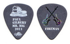 Mr. Big Paul Gilbert Fireman Black Guitar Pick - 2011 Tour