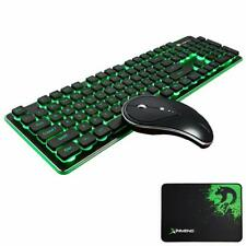 Wireless Gaming Keyboard and Mouse set Rechargeable Backlit for PC MAC Office UK
