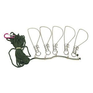 5 in 1 Steel Live Fish Lock 5 Snaps Available Fish Stringer Clip for Lure