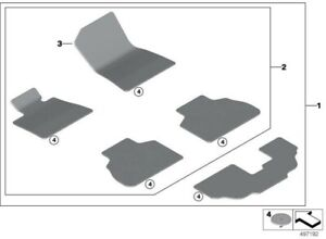 2019 - Present BMW X7 - OEM Fabric Velours Floor Mat Set -51478469780