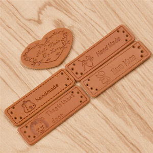 Vintage Synthetic Leather Tag DIY Handmade Sewing Labels Leathercrafts Accessory