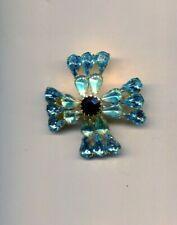 Turquoise Aqua Prong Set Maltese Pin