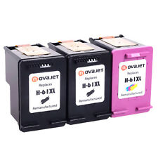 3PK For HP 61XL Black Color Ink Cartridge HP Deskjet 2050 2510 2542 3000  3050