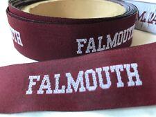 "Approx 10 Yards 1"" wide Weaved Grosgrain Ribbon Custom Falmouth Design"