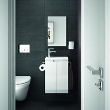 ALLIBERT Badmöbel Gäste-WC Set vormontiert wei�Ÿ Glanz Waschtisch 40 cm Spiegel
